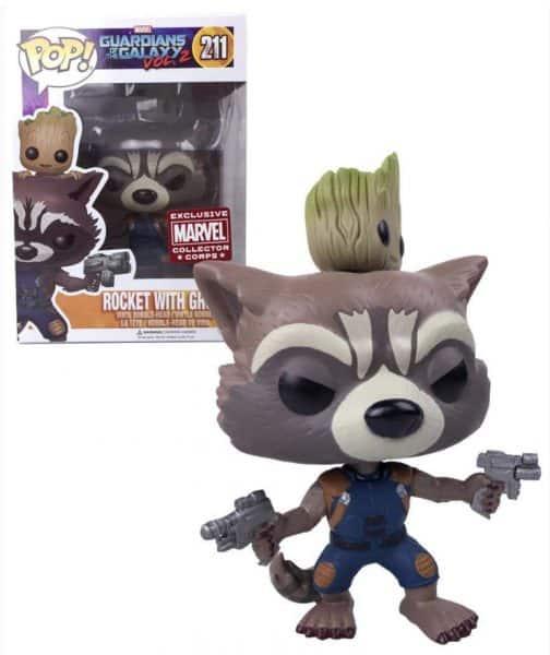 Rocket with Groot Funko Pop Marvel