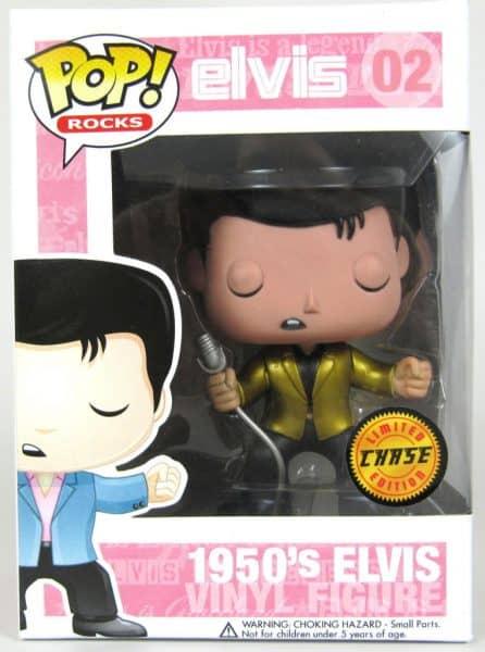 Elvis Metallic Gold Pop