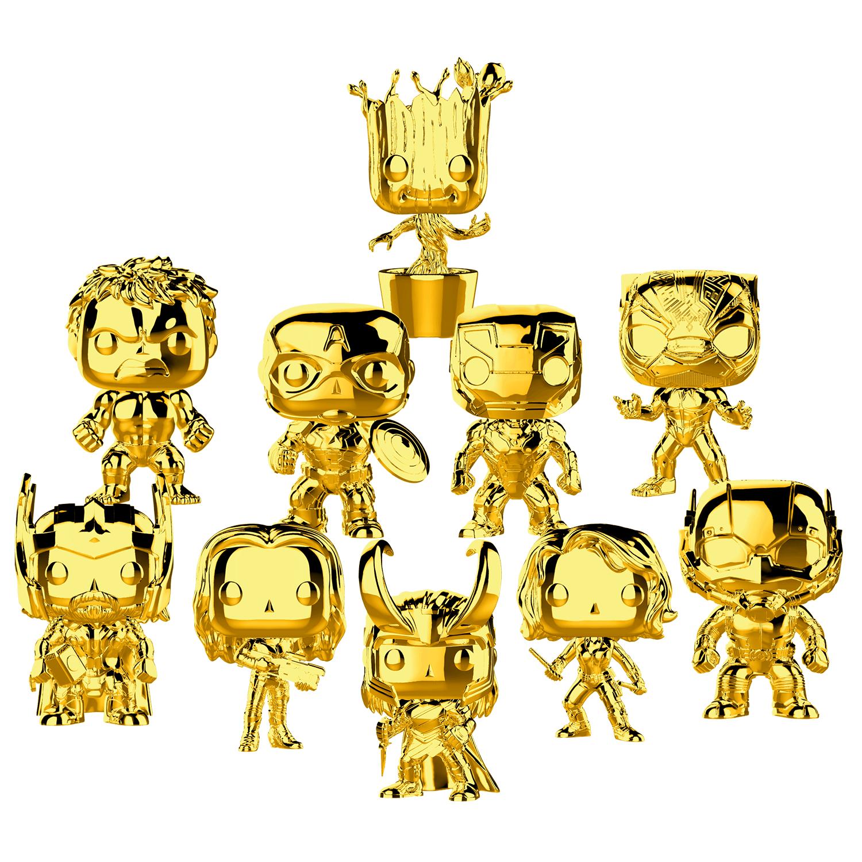 Gold Chrome Marvel Pop