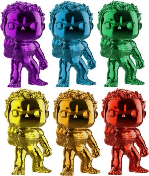 Avengers End Game Funko Pop Hulk Colours